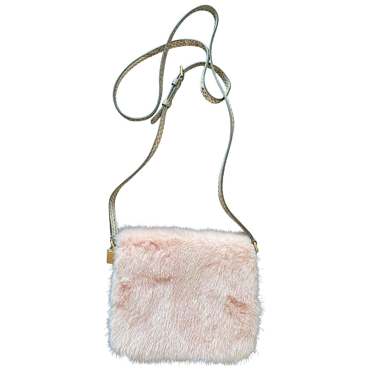 Dolce & Gabbana \N Handtasche in  Rosa Kaninchen