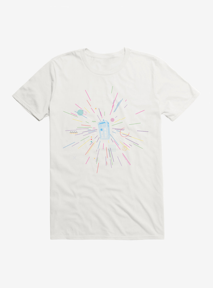 Doctor Who Thirteenth Doctor TARDIS Rainbow Of Explosion T-Shirt