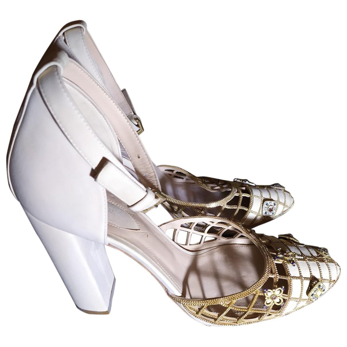 Elie Saab - Sandales   pour femme en cuir - beige