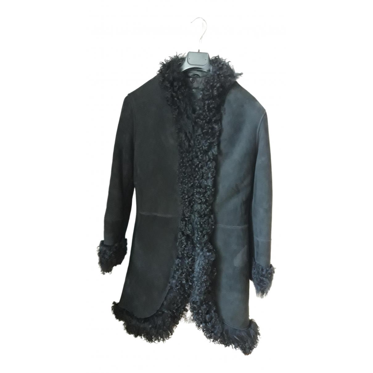Jimmy Fairly \N Black Shearling Leather jacket for Women 44 IT
