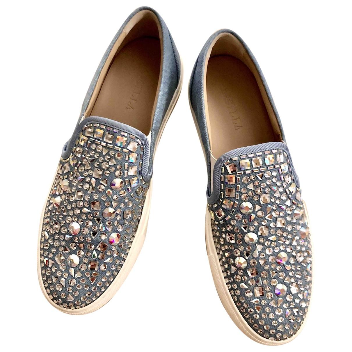 Le Silla \N Sneakers in  Blau Leinen