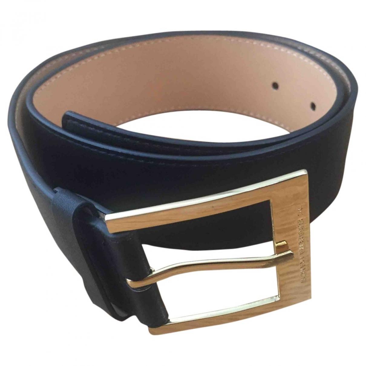 Elisabetta Franchi \N Black Leather belt for Women XS International