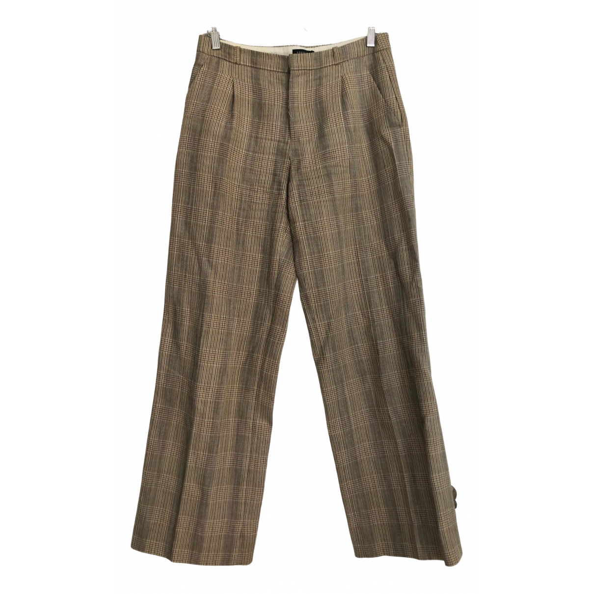 Soeur \N Beige Cotton Trousers for Women 38 FR