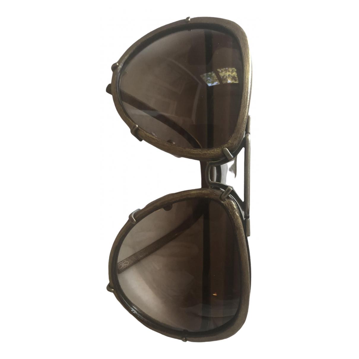 Bottega Veneta - Lunettes   pour femme en metal - dore
