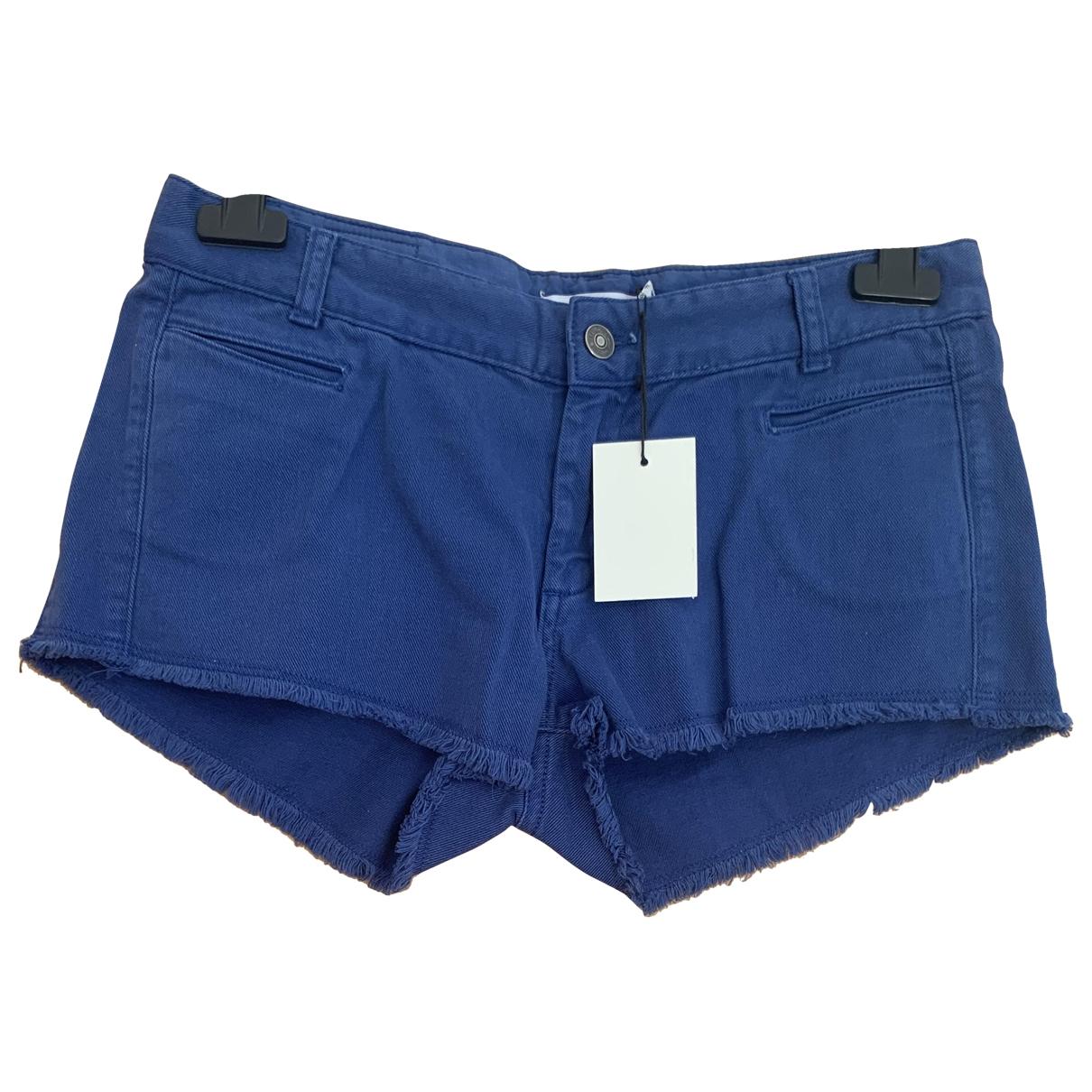 See By Chloe - Short   pour femme en coton - bleu