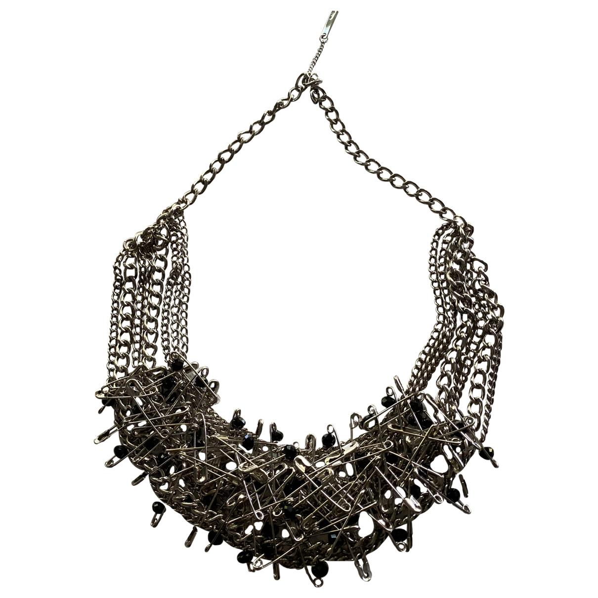 - Collier   pour femme en metal - argente