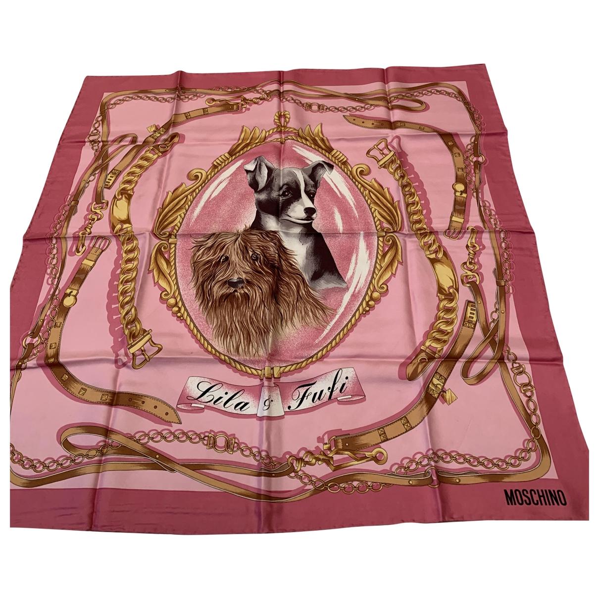Moschino \N Pink Silk Silk handkerchief for Women \N