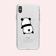 Cartoon Panda Graphic iPhone Case