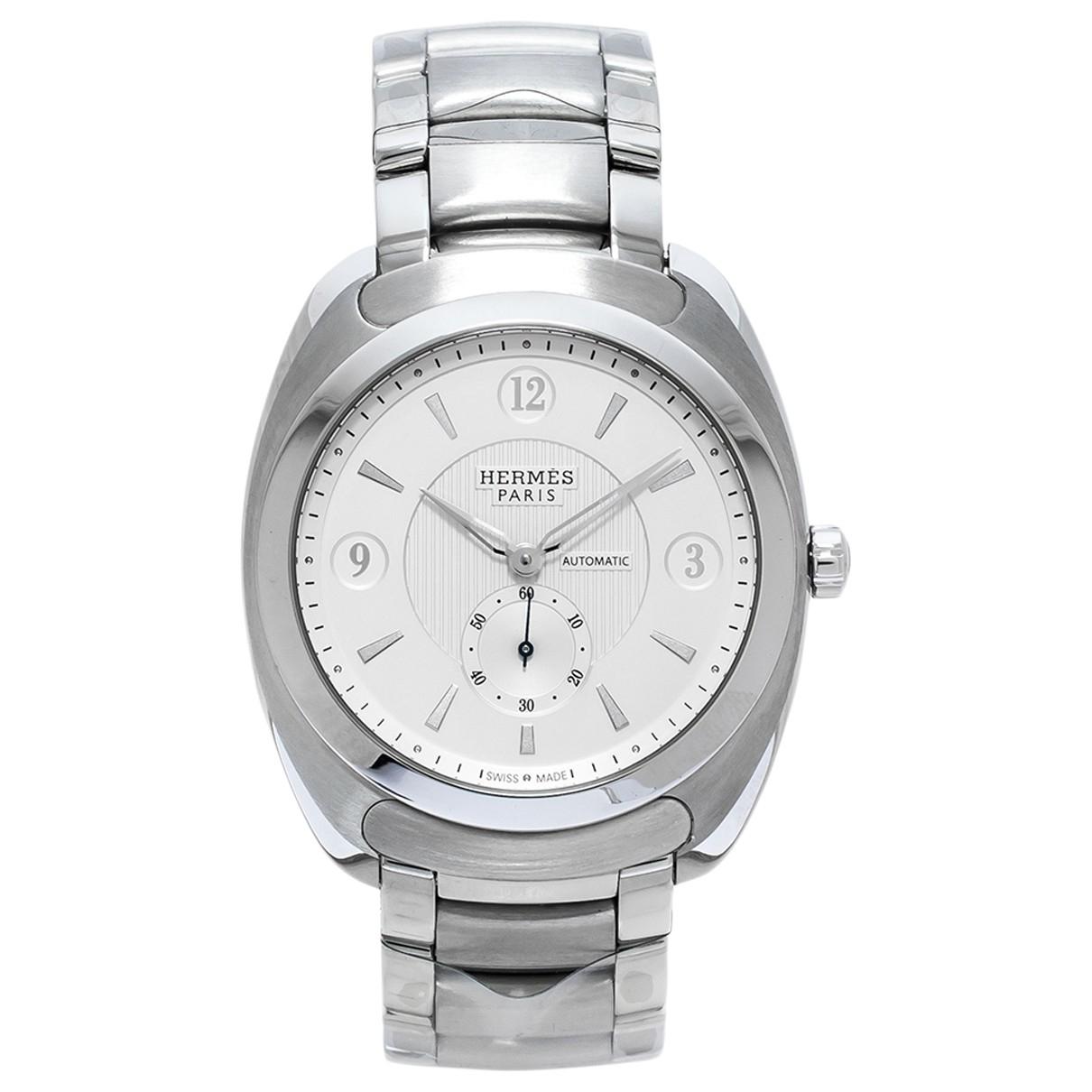 Hermes Dressage Uhr in  Silber Stahl