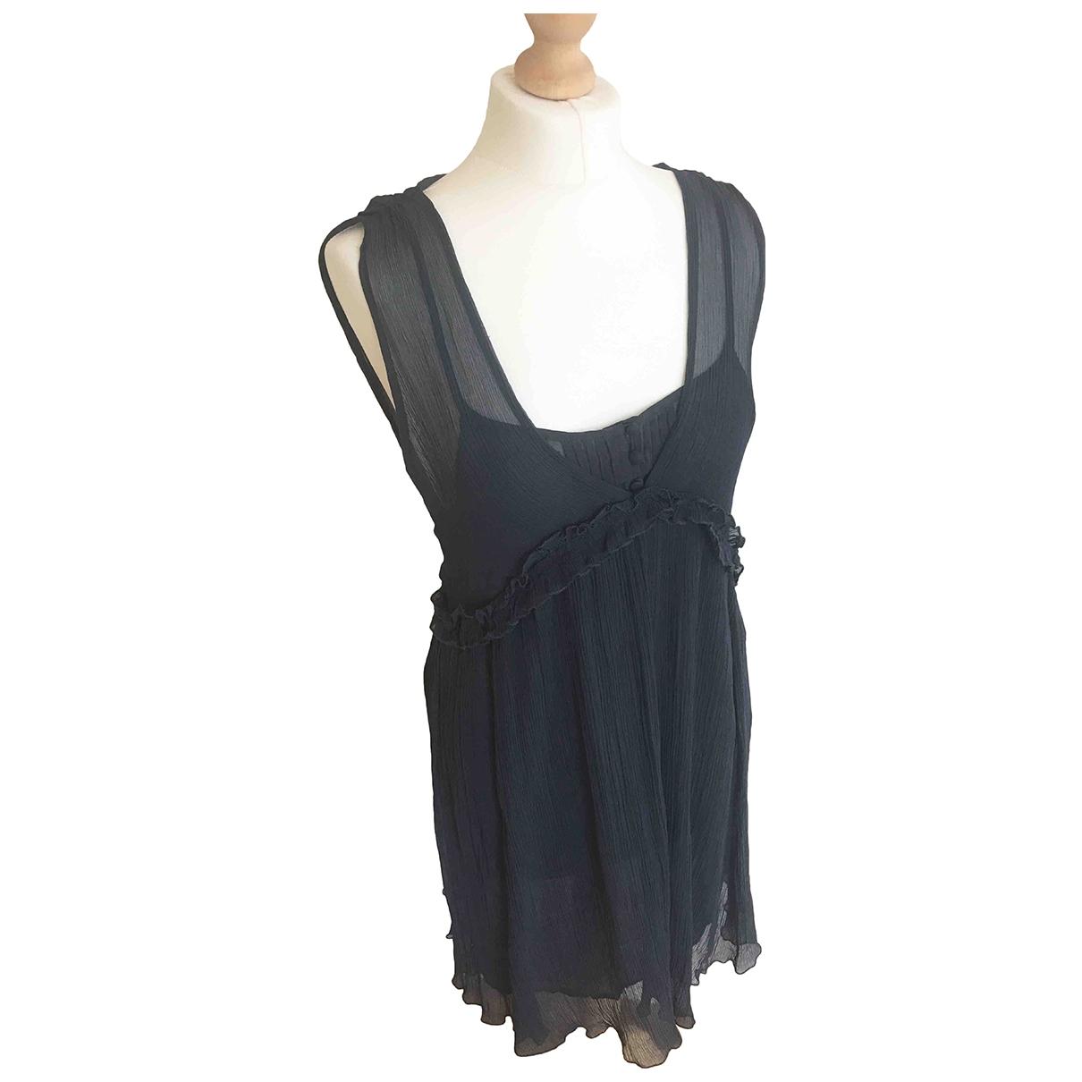 Vanessa Bruno Athe - Robe   pour femme en soie - bleu