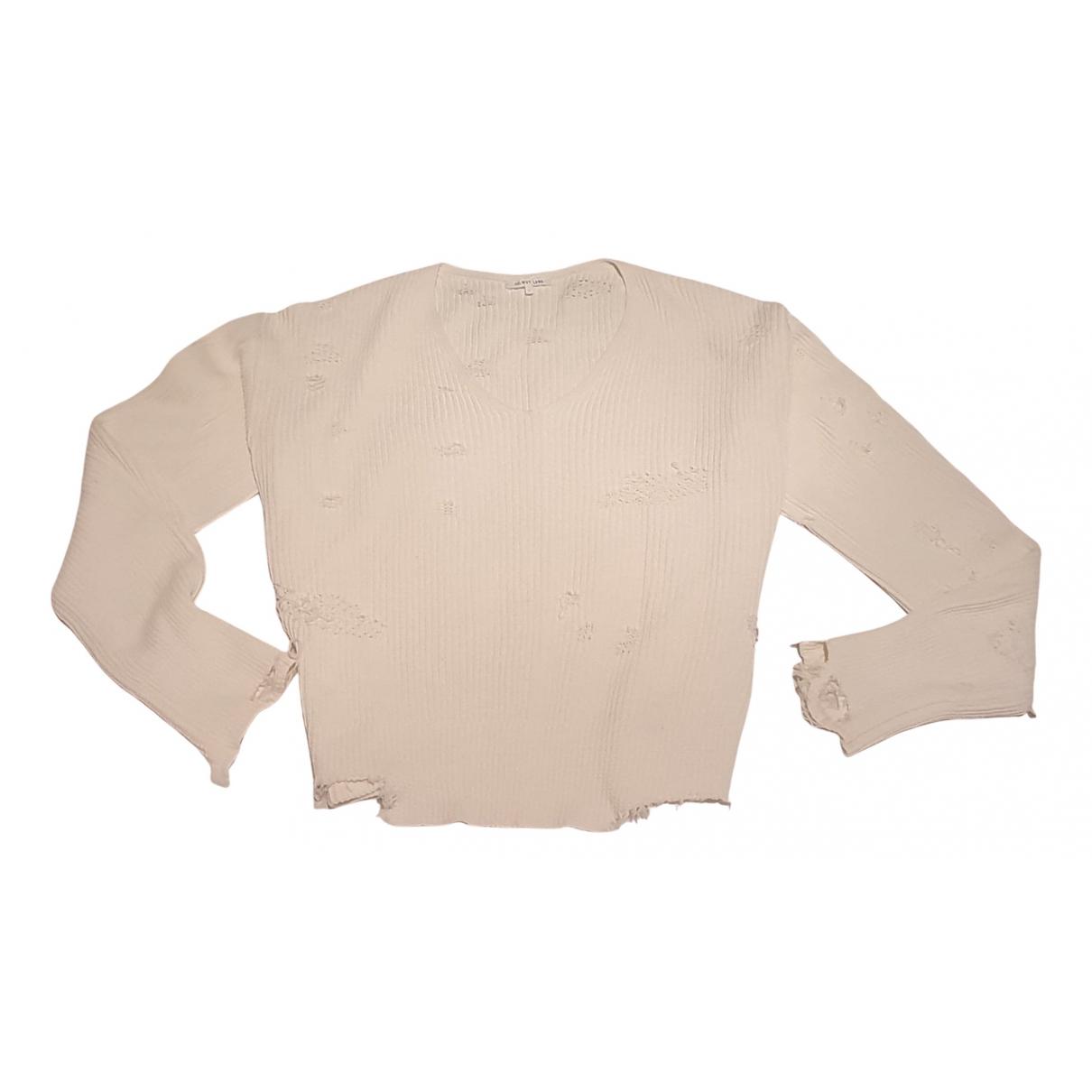 Helmut Lang - Pull   pour femme en coton - ecru