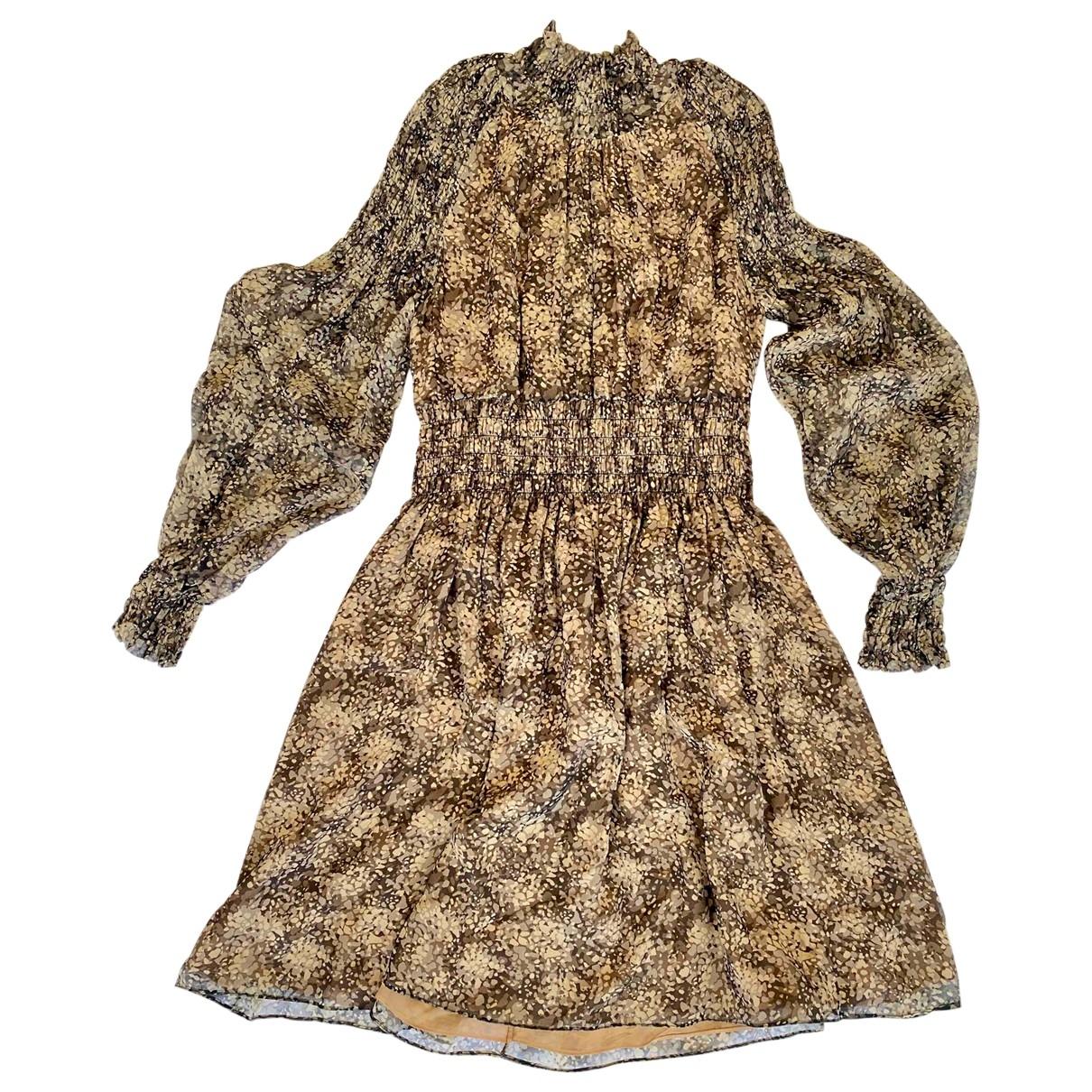 Michael Kors - Robe   pour femme en soie - beige