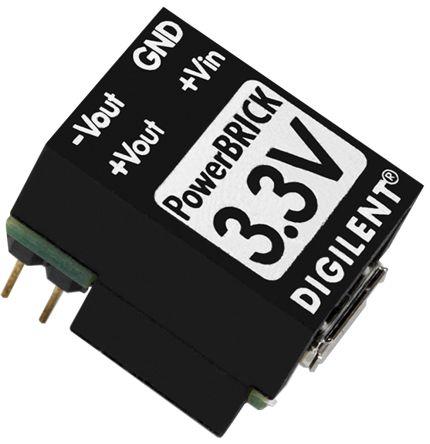 Digilent Non-Isolated DC-DC Converter, ±3.3V dc Output, -320 mA, 350 mA