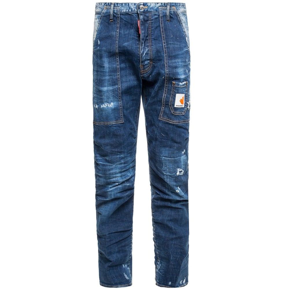 DSquared2 Dark Front Jeans Colour: BLUE, Size: 36 30