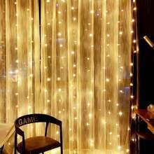 200pcs Bulb Curtain String Light