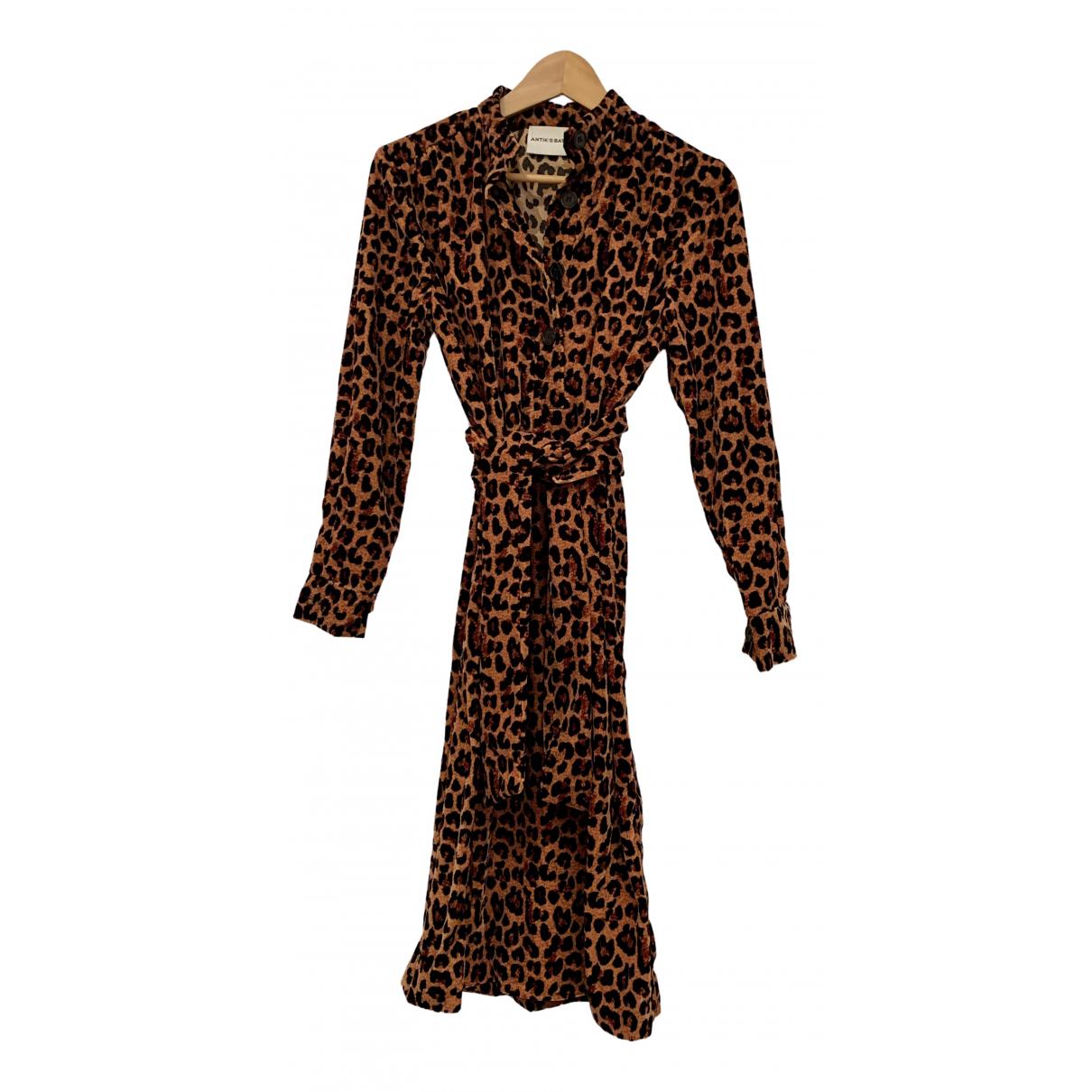 Antik Batik N Brown Velvet dress for Women 36 FR