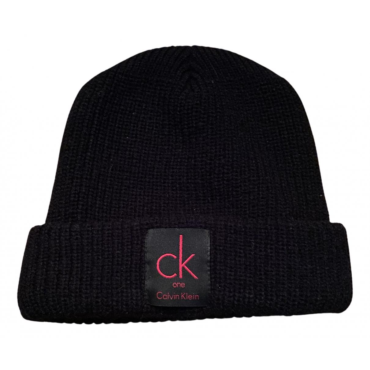 Calvin Klein - Chapeau & Bonnets   pour homme en laine - noir