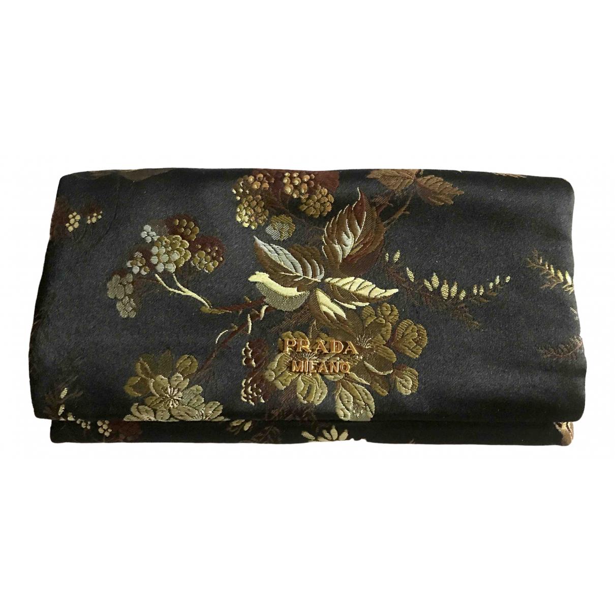 Prada - Pochette Tessuto  pour femme en soie - noir