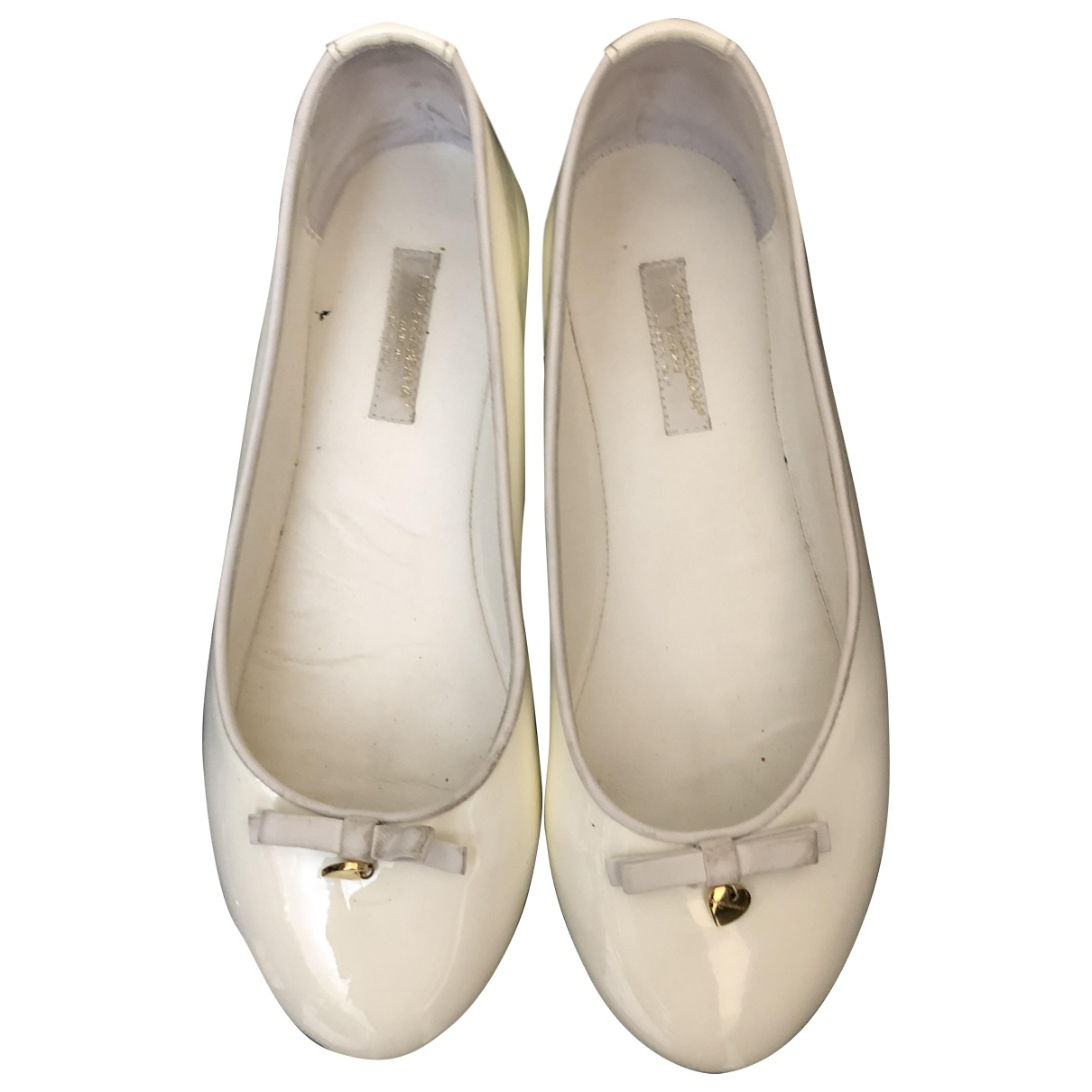 Dolce & Gabbana \N White Patent leather Ballet flats for Kids 35 EU