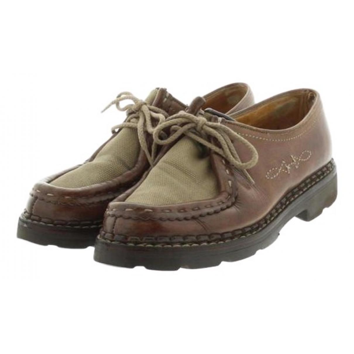 Hermès \N Brown Leather Lace ups for Men 6 US