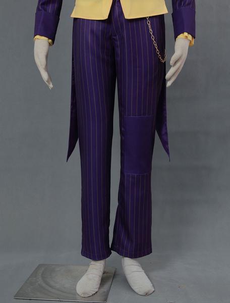 Milanoo Batman Arkham Asylum Joker Halloween Cosplay Costume Halloween