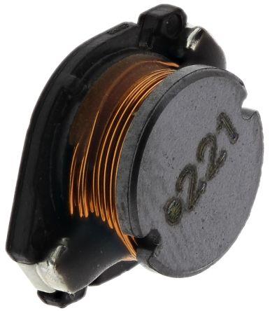 Wurth Elektronik Wurth, WE-PD4 Unshielded Wire-wound SMD Inductor with a Ferrite Core, 220 μH ±10% 900mA Idc (2)
