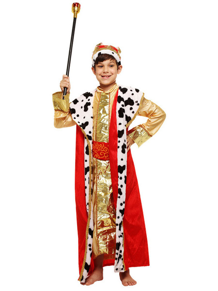 Milanoo Kid Arabian Costume Metallic Guilding Masquerade Halloween Cosplay Set