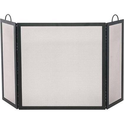 S-1504 3 Fold Black Wrought Iron Screen