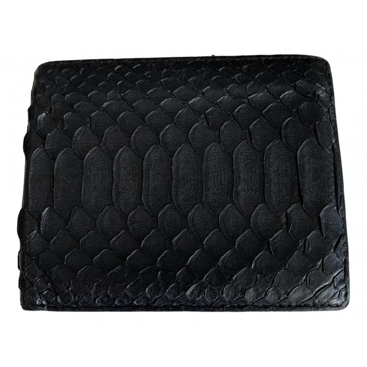 Dior Homme - Petite maroquinerie   pour homme en python - noir