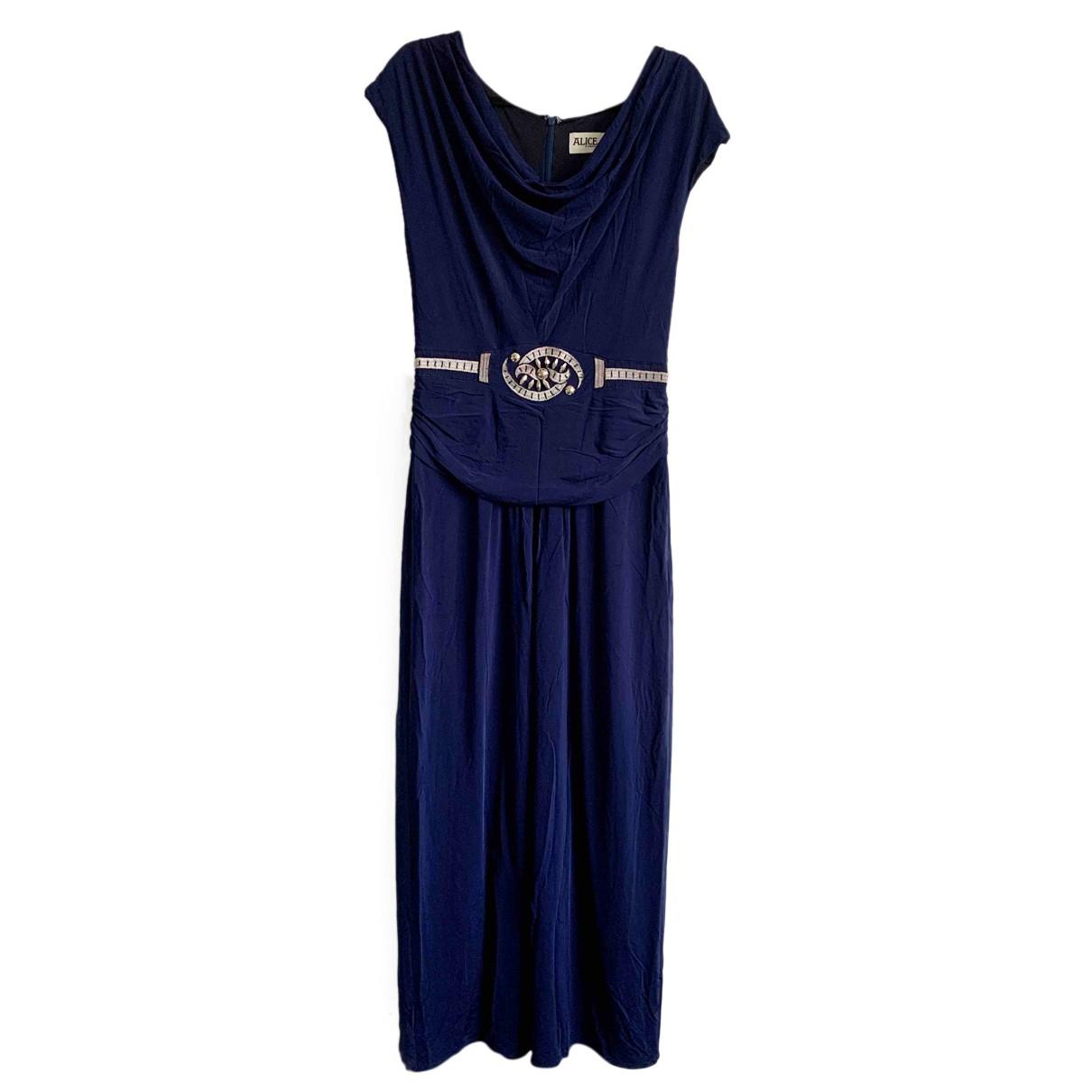 Alice By Temperley \N Kleid in  Blau Viskose