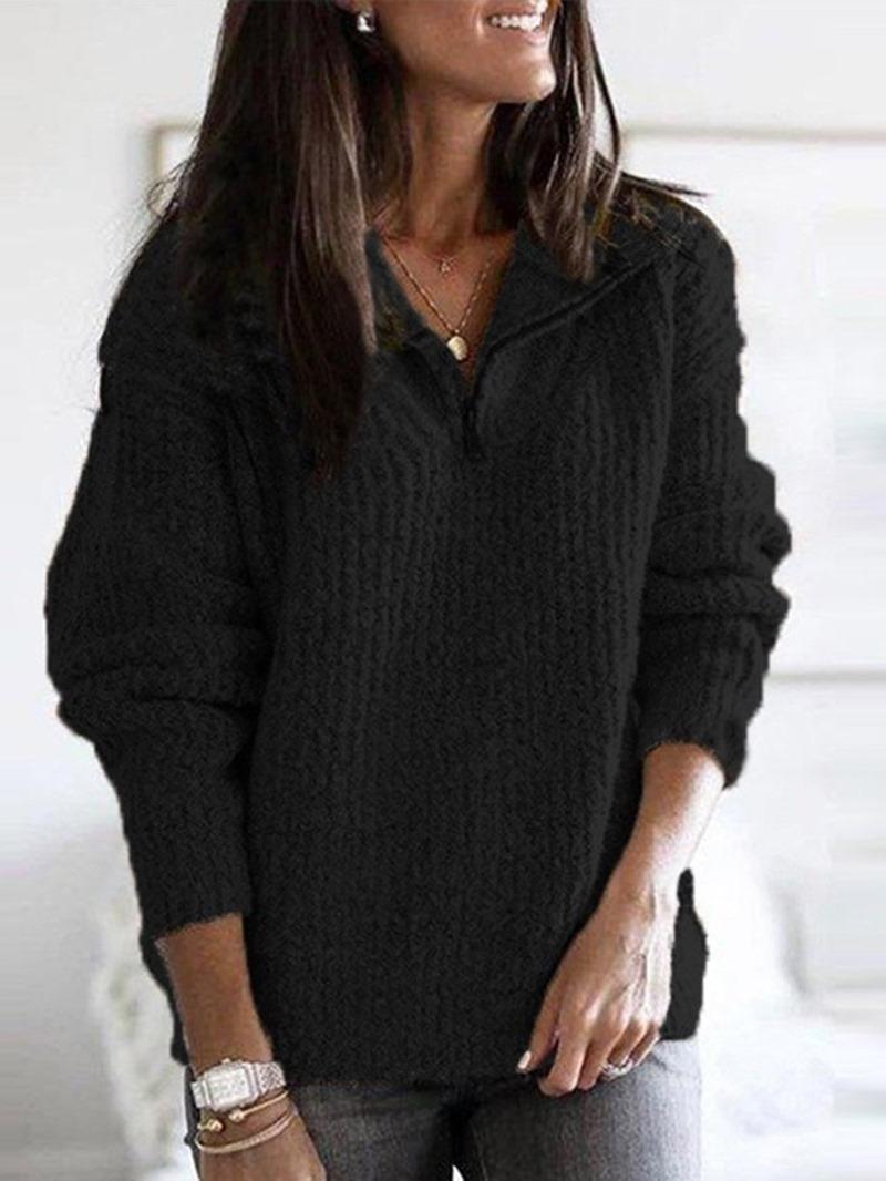 Ericdress Thin Patchwork Regular Fall Long Sleeve Sweater