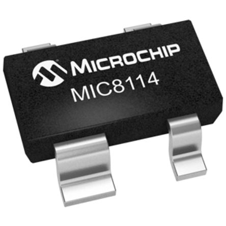 Microchip MIC8114TUY-TR, Processor Supervisor -0.3V, Reset Input 4-Pin, SOT-143 (25)
