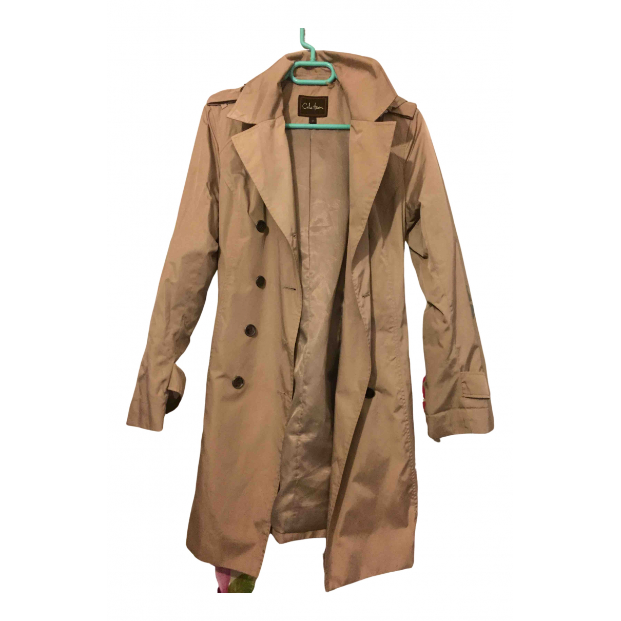 Cole Haan \N Trench in  Kamel Polyester
