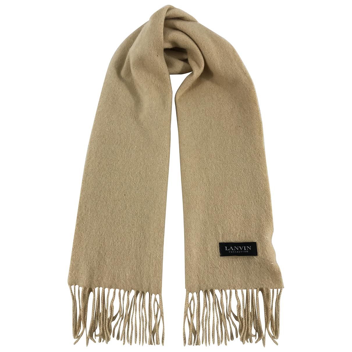 Lanvin - Foulard   pour femme en cachemire - beige