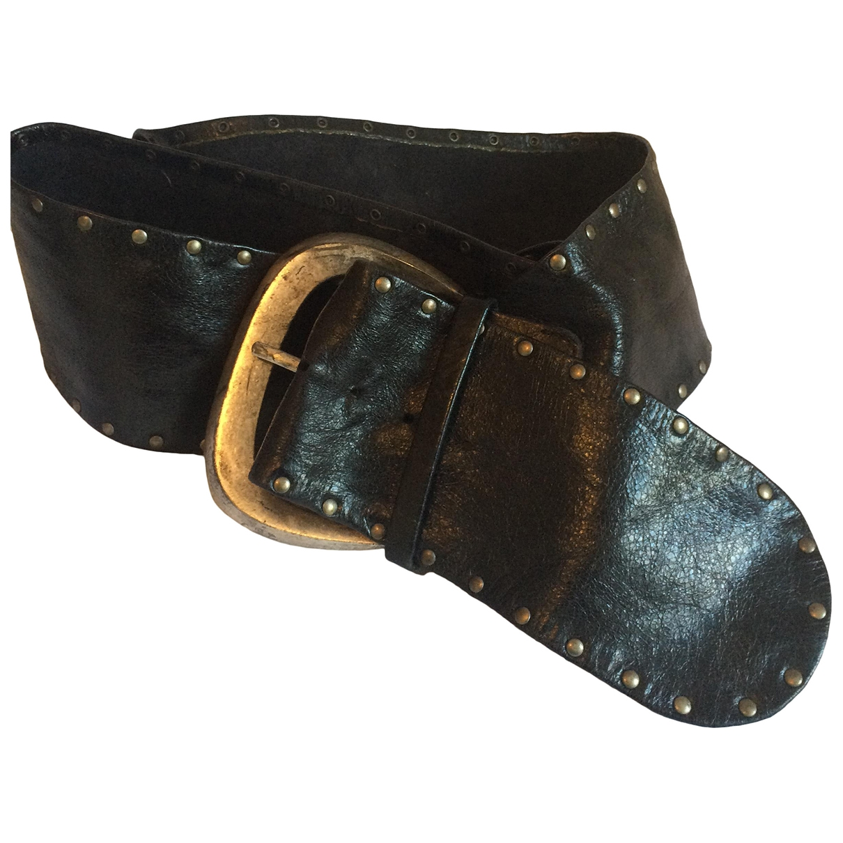 Non Signé / Unsigned \N Black Leather belt for Women L International