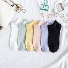 6 Paare Sockchen mit Bogenkante
