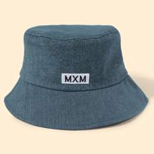 Men Letter Embroidery Bucket Hat