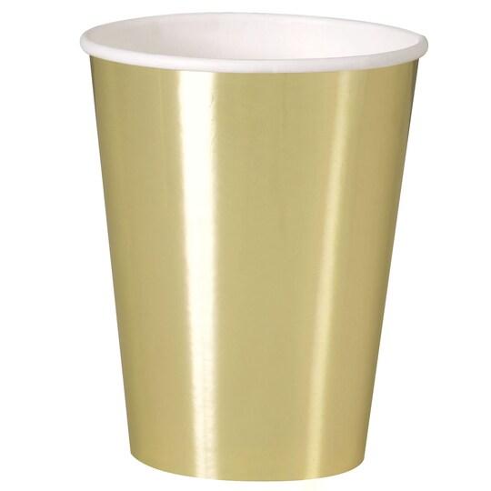 12 Oz Foil Gold Paper Cups, 8Ct By Unique | Michaels®