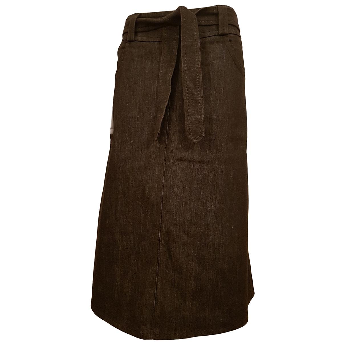 Max Mara - Jupe   pour femme en denim - marron