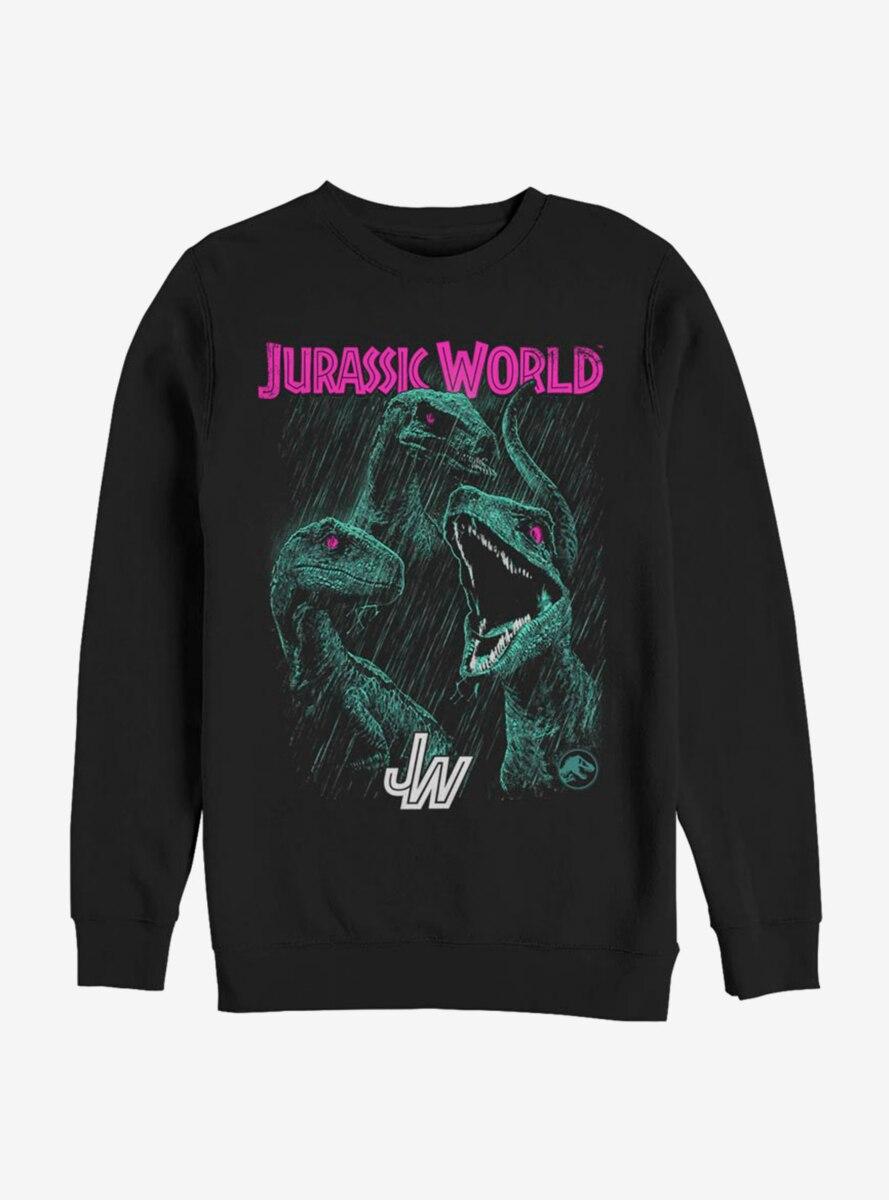 Jurassic World Bright Raptor Squad Sweatshirt