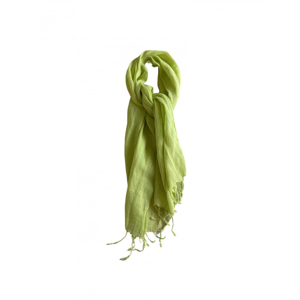 Mauro Grifoni - Foulard   pour femme en lin - vert