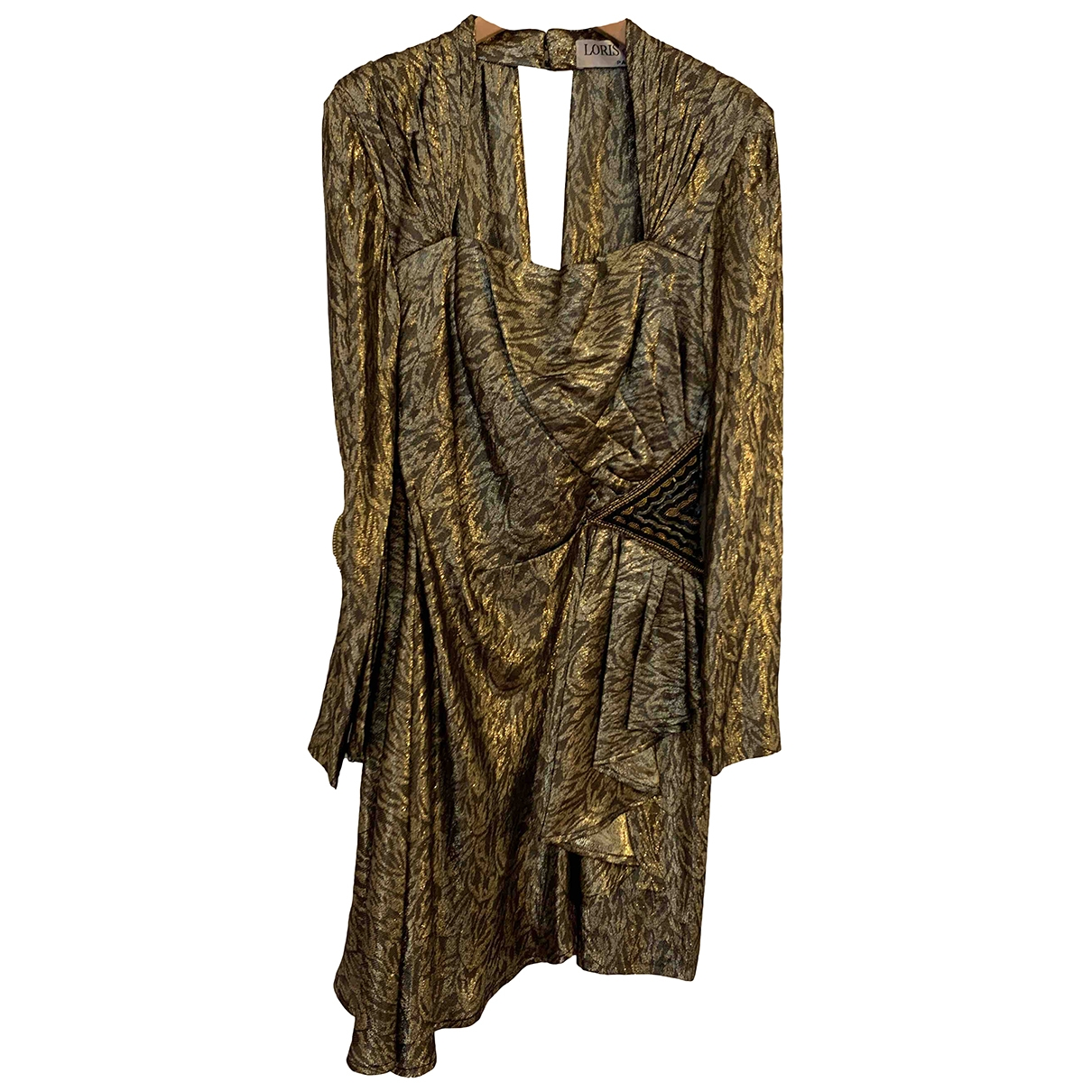 Loris Azzaro \N Gold Silk dress for Women 36 FR