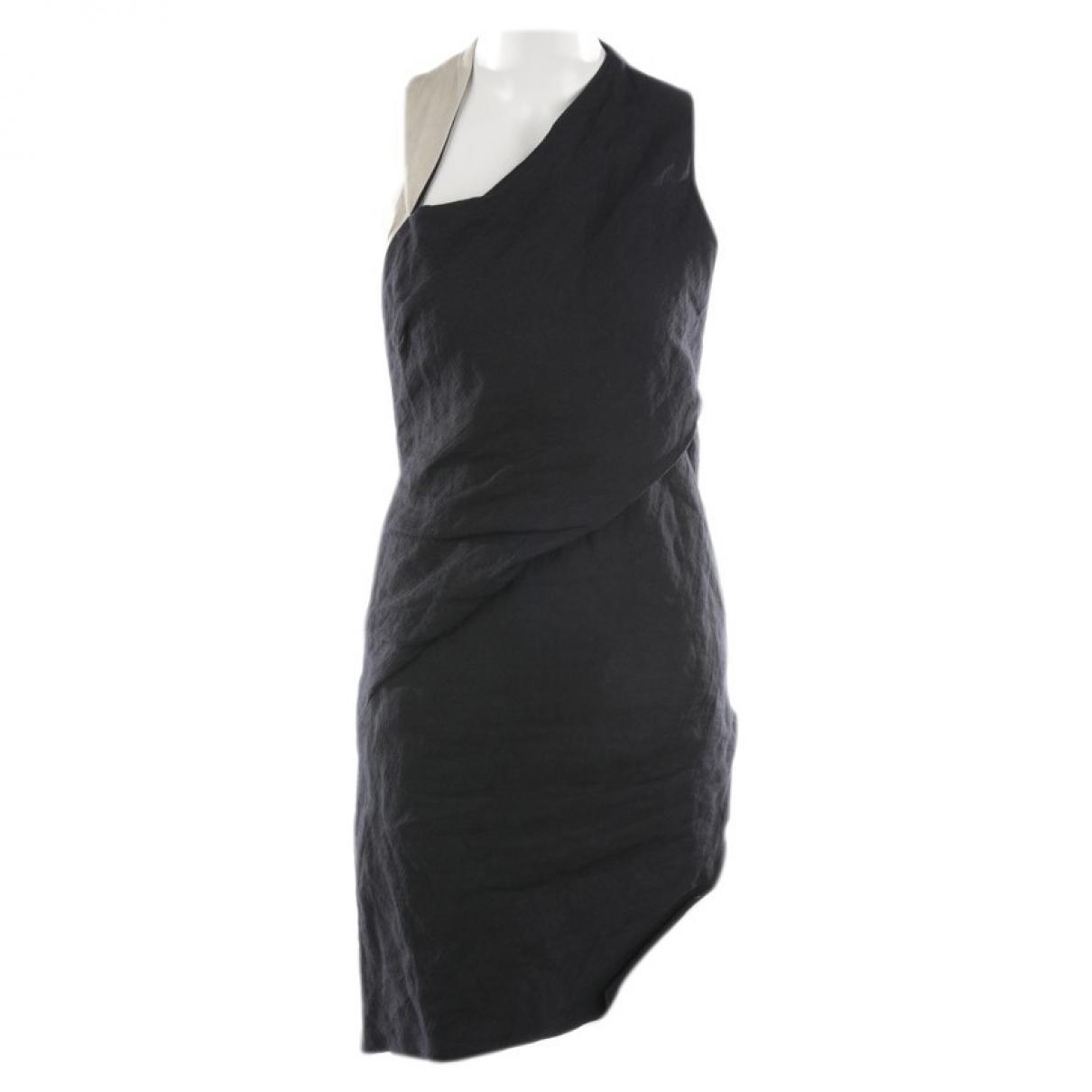 Helmut Lang - Robe   pour femme en lin - noir