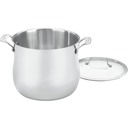 Cuisinart Contour 12-qt. Stainless Steel Stock Pot with Lid, One Size , Gray