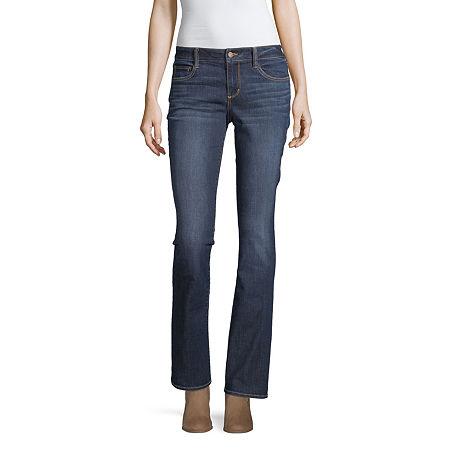 Arizona Low Rise Skinny Fit Bootcut Jean, 7 , Blue