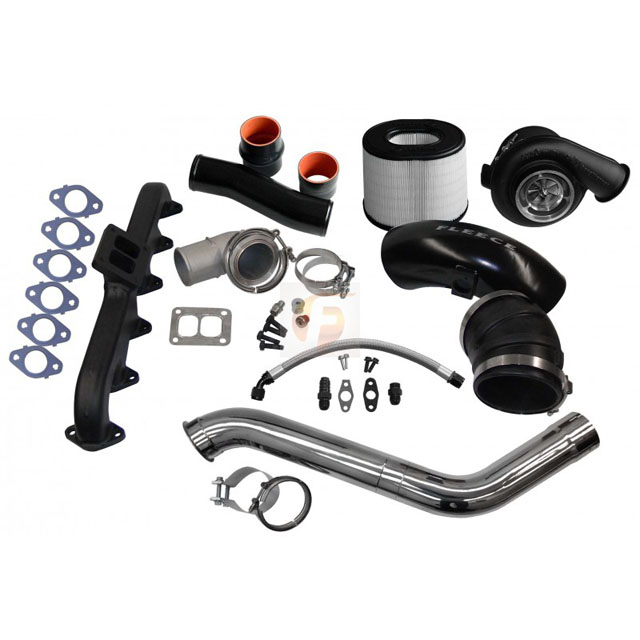 Fleece Performance FPE-674-2G-63-SS 2nd Gen Swap Kit with T4 Steed Speed Manifold and S463 Turbocharger For 4th Gen Cummins 2010-2012