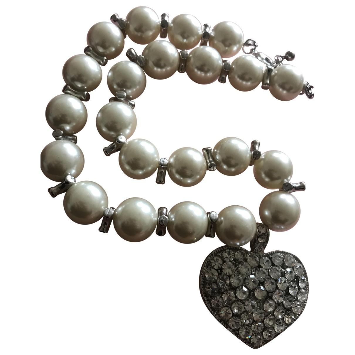 - Collier Motifs Coeurs pour femme en cristal - argente