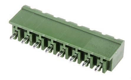 RS PRO , 8 Way, 1 Row, Straight PCB Header (5)