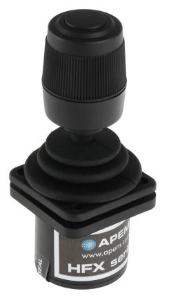 Apem , 3 Way Joystick Switch Button, Hall Effect, IP65 Rated