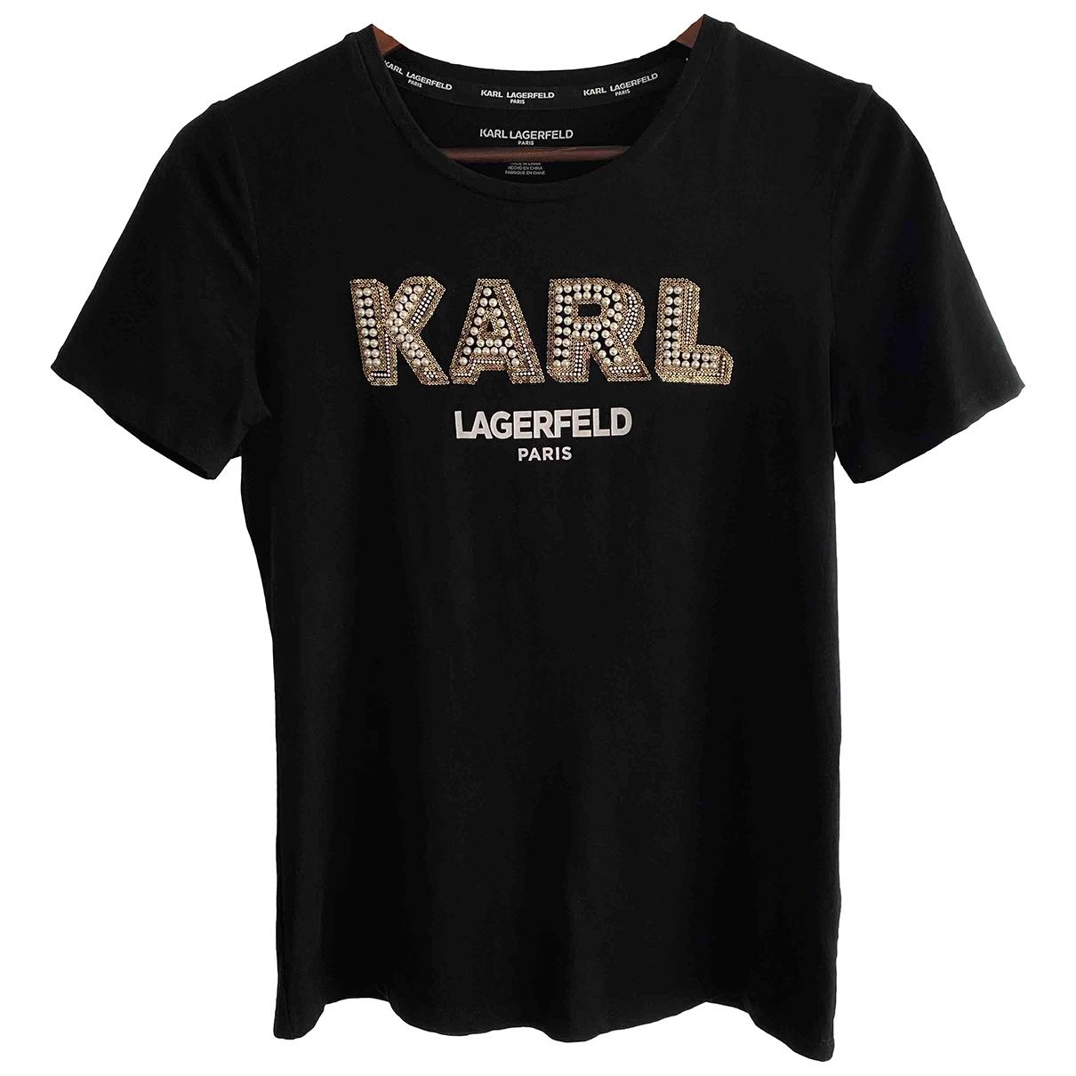 Karl Lagerfeld \N Top in  Schwarz Baumwolle